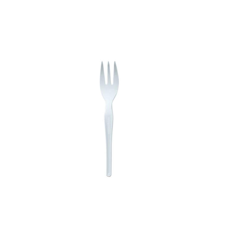 Forchettine bianche 12 cm in materbi 500 pz