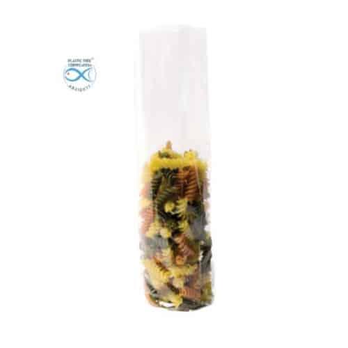 Sacchetti trasparenti per alimenti in Natureflex™ 100+60x300 mm 1000 pz
