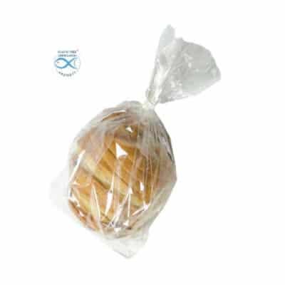 Sacchetti trasparenti per alimenti in Natureflex™ 110+60x340 mm 1000 pz