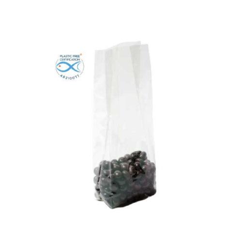 Sacchetti trasparenti per alimenti in Natureflex™ 120+70x350 mm 1000 pz