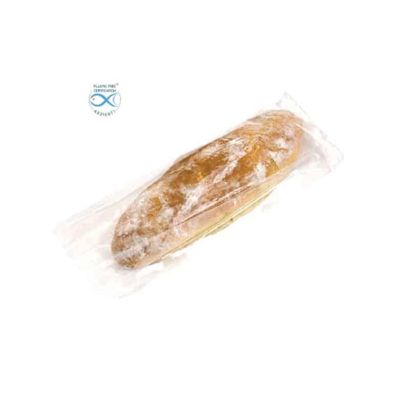 Sacchetti trasparenti per alimenti in Natureflex™ 140+80x340 mm 500 pz
