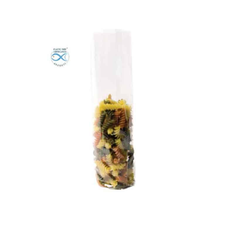 Sacchetti trasparenti per alimenti in Natureflex™ 60+50x200 mm 1500 pz
