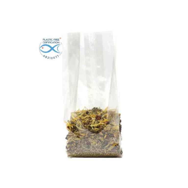 Sacchetti trasparenti per alimenti in Natureflex™ 80+50x240 mm 500 pz