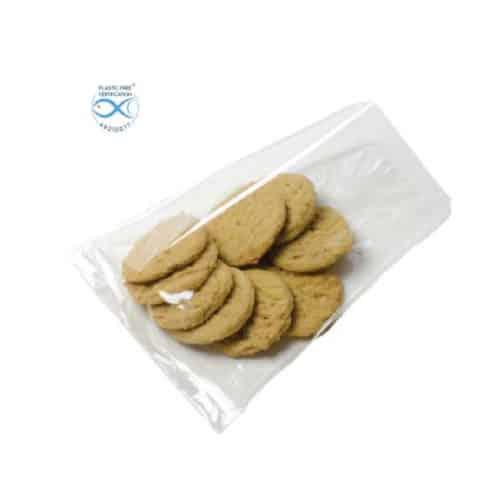 Sacchetti trasparenti per alimenti in Natureflex™ 90+60x280 mm 1500 pz
