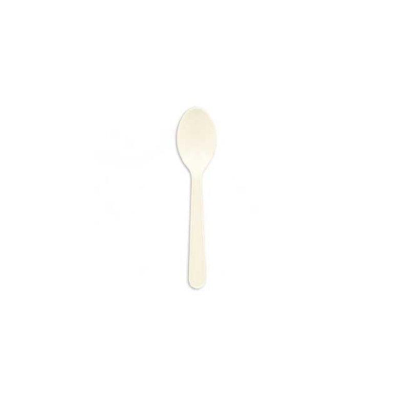 Cucchiaini bianchi in bioplastica 10 cm 100 pz