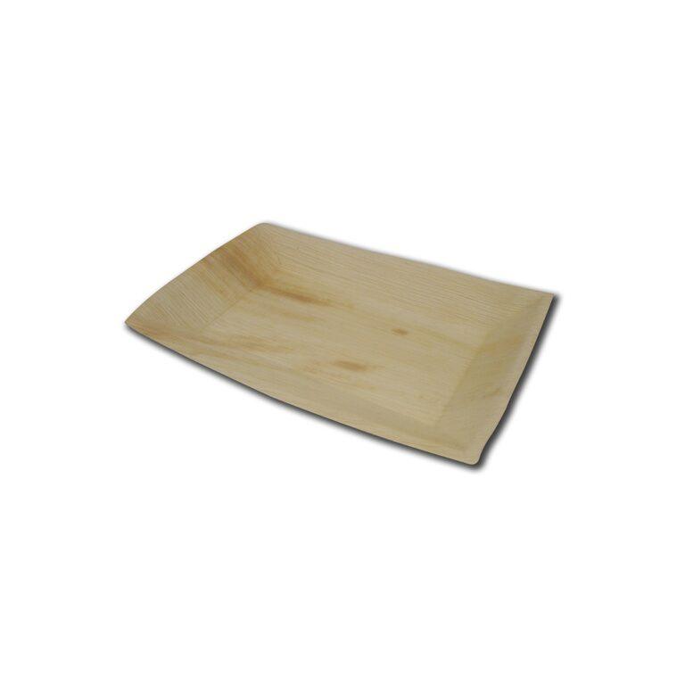 Piatti rettangolari in foglia di palma 17x12 cm 200 pz