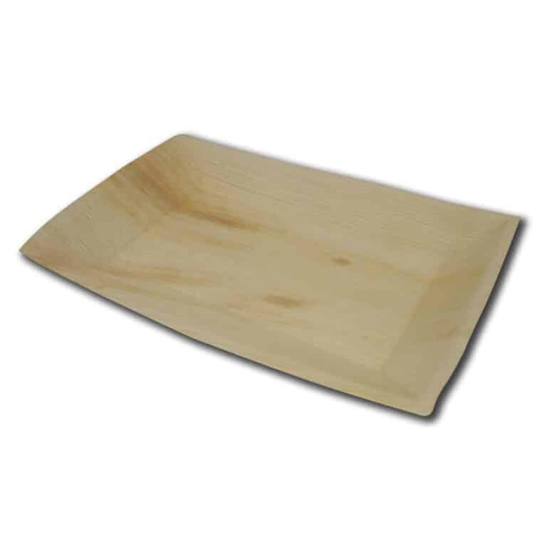 Piatti rettangolari in foglia di palma 17x25 cm confezione 100 pz
