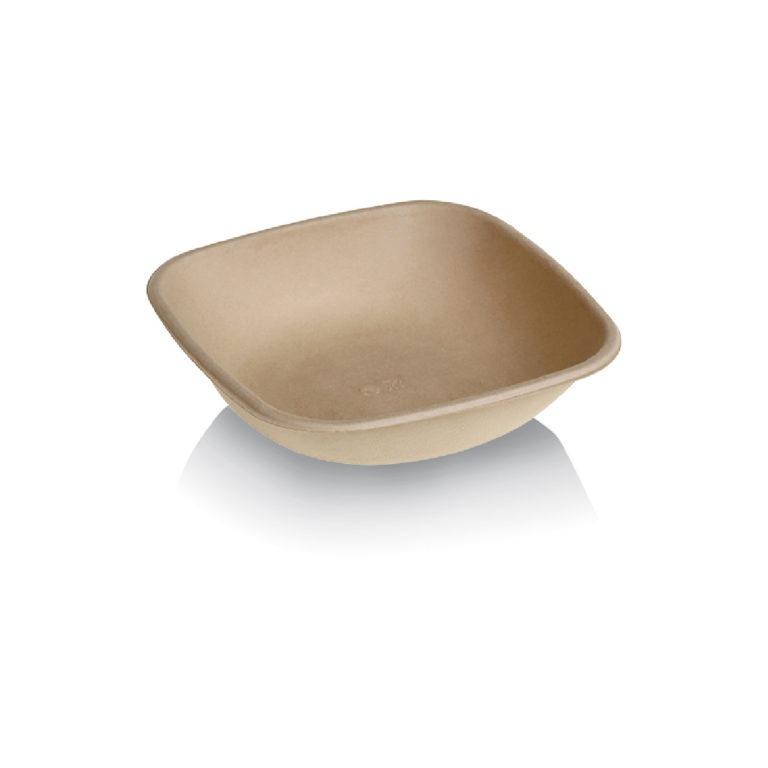 Ciotole in polpa di cellulosa e PLA avana 750 ml 125 pz