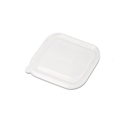 Coperchi quadrati in PLA per piatti da 500 e 750 ml 125 pz