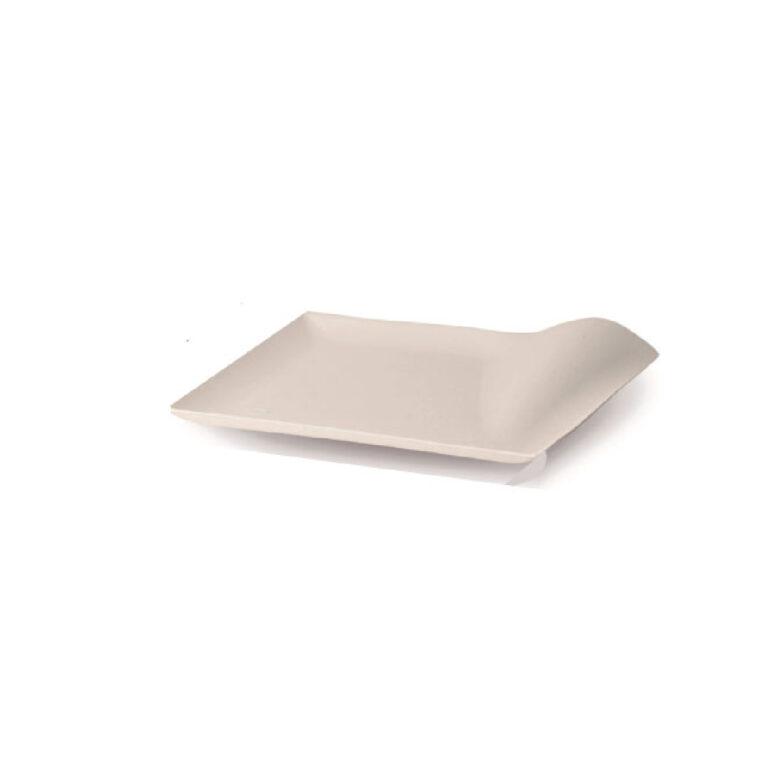 Piattini finger food quadrati in cellulosa e PLA 100 pz
