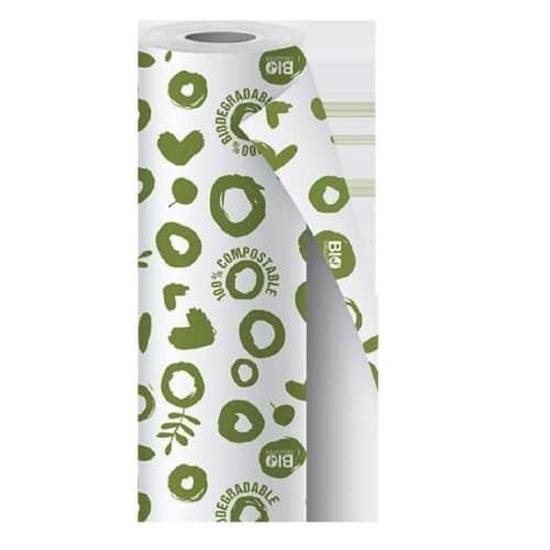Rotolo tovaglia in bamboo fantasia verde m 1,18x5 1 pz