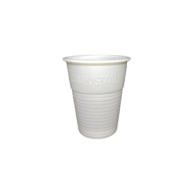 Bicchieri bianchi in bioplastica Cpla 200 ml 100 pz