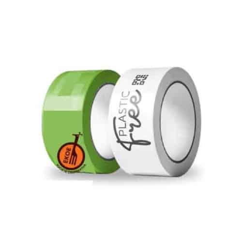 Nastro adesivo biodegradabile e compostabile in PLA trasparente