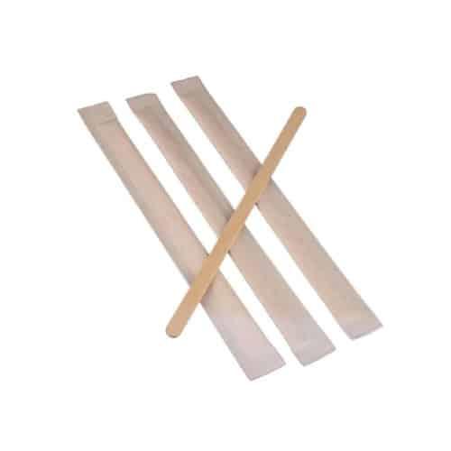 Palette in legno imbustate Bio 11 cm per caffè 1000 pz