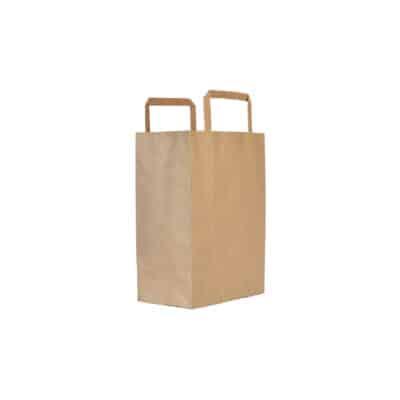 Shoppers in carta avana riciclata 27+12x37 cm 350 pz