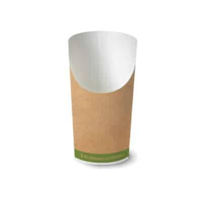 Bicchiere personalizzato grande porta fritti in cartoncino avana 1400 pz