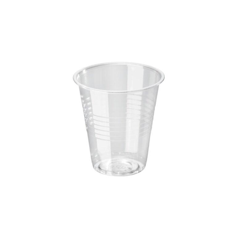 Bicchieri acqua in bioplastica personalizzati 170 ml tacca 150 ml