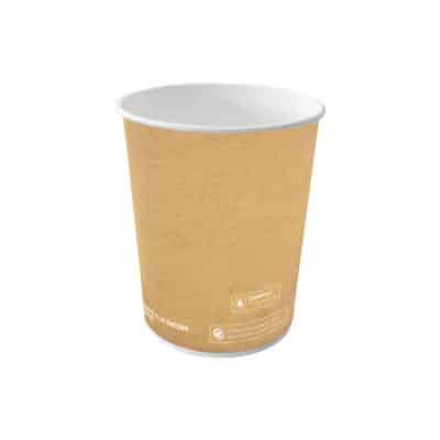 Bicchieri personalizzati in cartoncino avana per bevande calde 300 ml