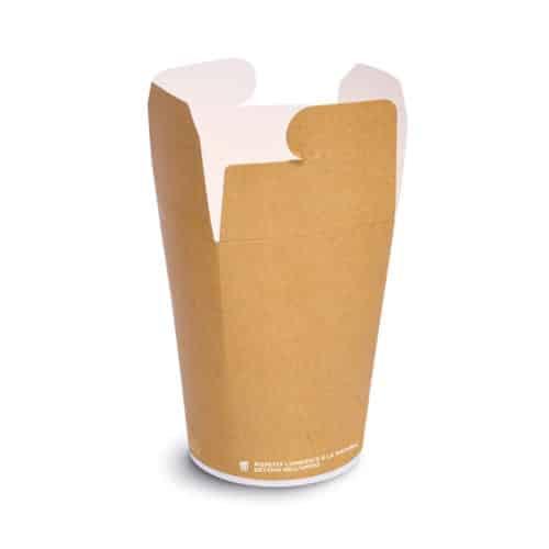 Noodle box personalizzato compostabile in cartoncino 750 ml 430 pz