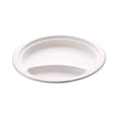 Piatti bis comparto personalizzati in polpa di cellulosa 23 cm 1000 pz