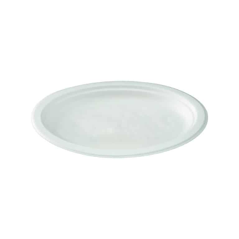 Piatti ovali personalizzati in polpa di cellulosa 26x19 cm 1000 pz