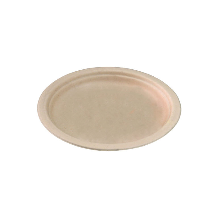 Piatti personalizzati in polpa di cellulosa avana 30 cm 1000 pz