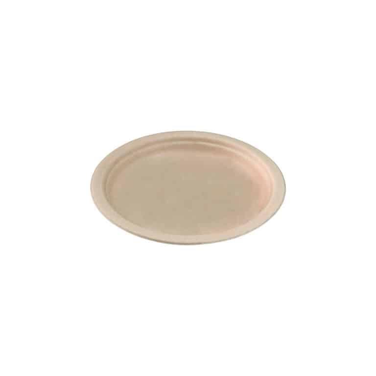 Piatti personalizzati in polpa di cellulosa cm 18 avana 1000 pz