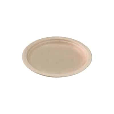 Piatti personalizzati in polpa di cellulosa cm 23 avana 1000 pz