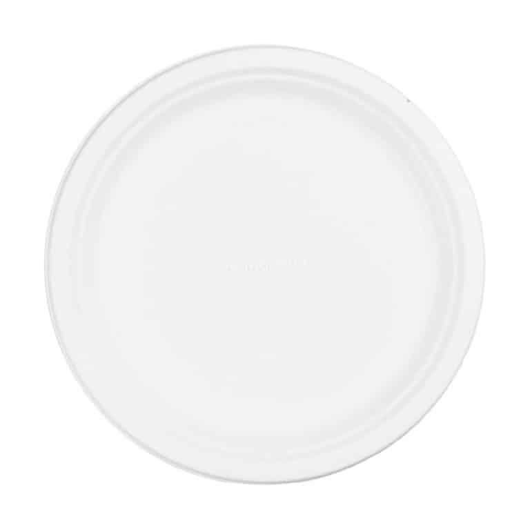 Piatti piani personalizzati in polpa di cellulosa 26 cm 1000 pz