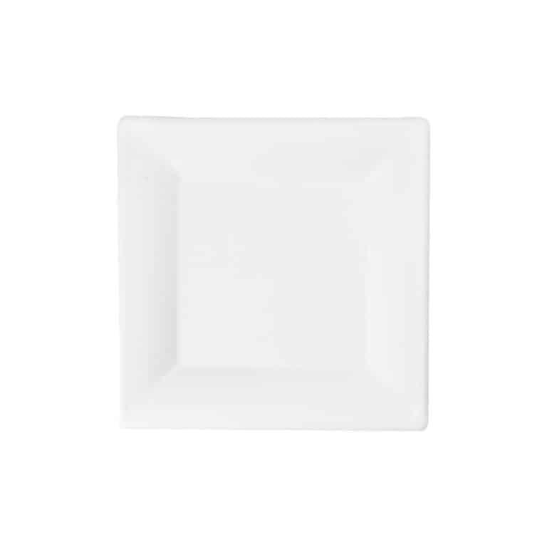 Piatti quadratI personalizzati in polpa di cellulosa 16 cm 1000 pz