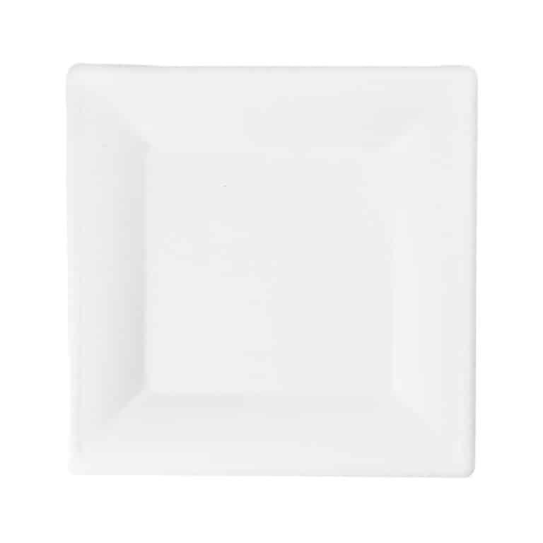 Piatti quadratI personalizzati in polpa di cellulosa 20 cm 1000 pz