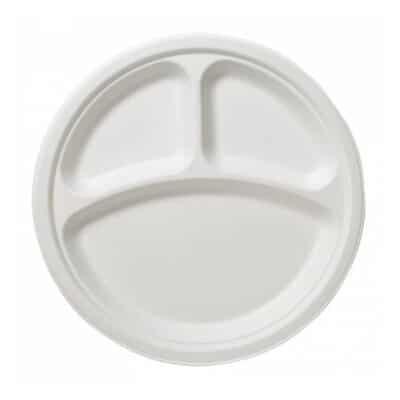 Piatti tris comparti personalizzati in polpa di cellulosa 1000 pz