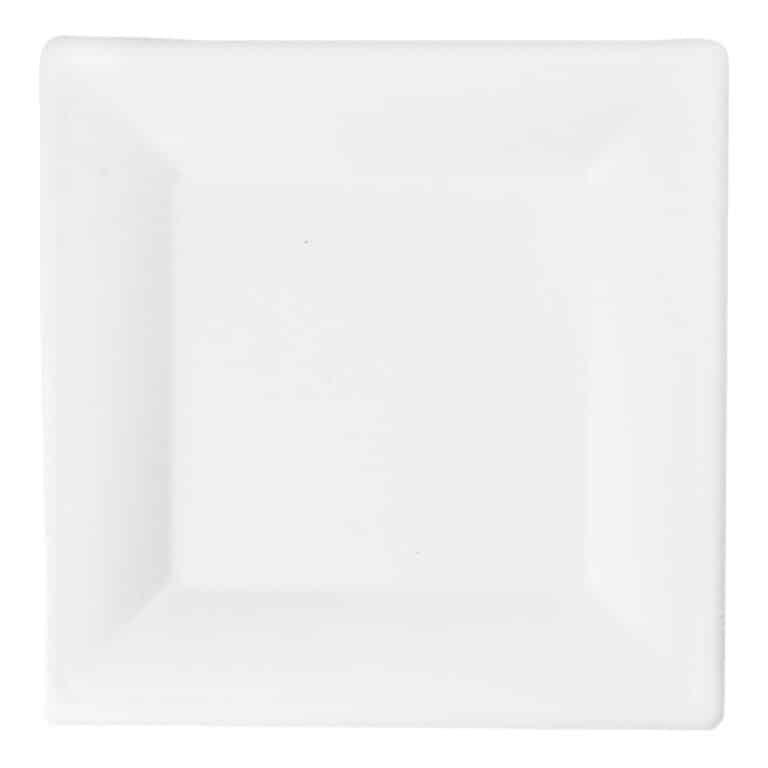 Piatto personalizzato ecologico e compostabile quadrato 26 cm (ordine minimo 1000 pz)