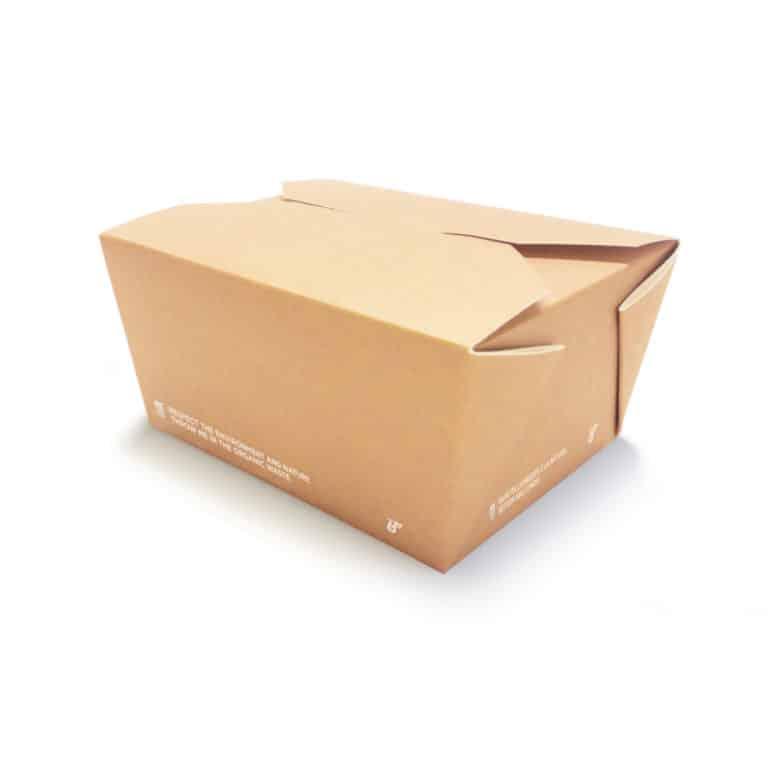 Scatole personalizzate per alimenti rivestimento ecologico 1350 ml 160 pz