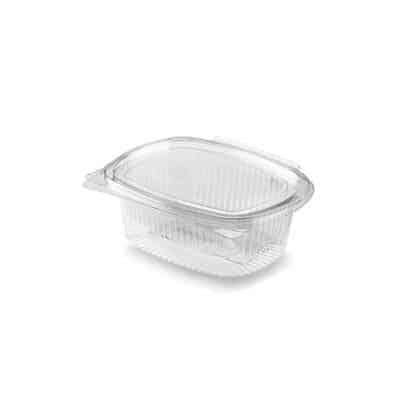 Vaschette con coperchio personalizzate in Pla trasparenti 237 ml 200 pz
