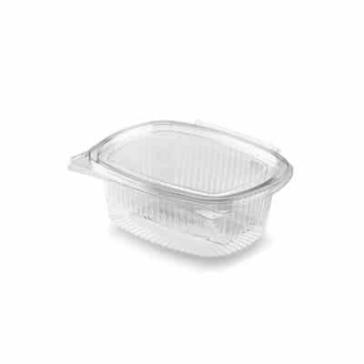 Vaschette personalizzate in Pla trasparenti con coperchio 355 ml 200 pz