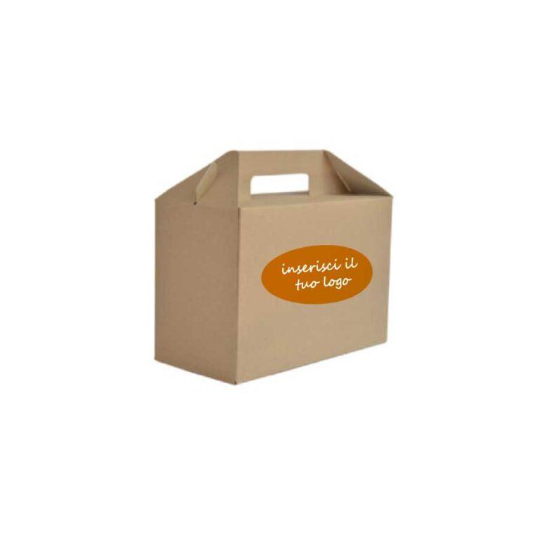 doggy bag biodegradabile personalizzata 26,5x12,8 cm h 18 cm