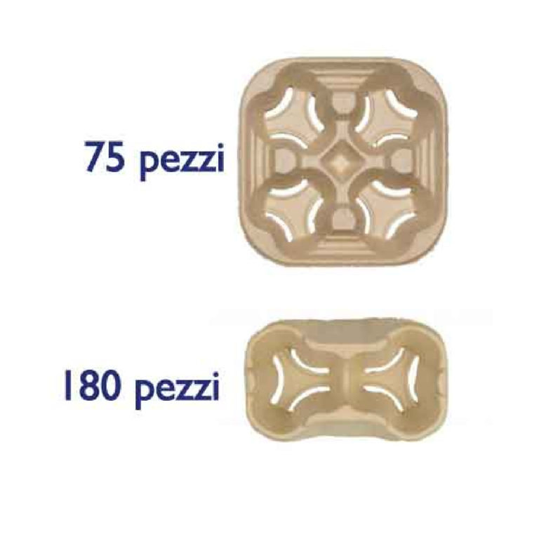 Porta bicchieri in cartoncino due misure 2-4 255 pz