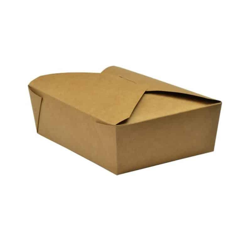 Scatole da asporto in cartoncino e PLA 1800 ml 180 pz