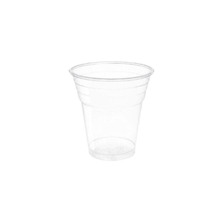 Bicchieri biodegradabili trasparenti da 200 ml 100 pz