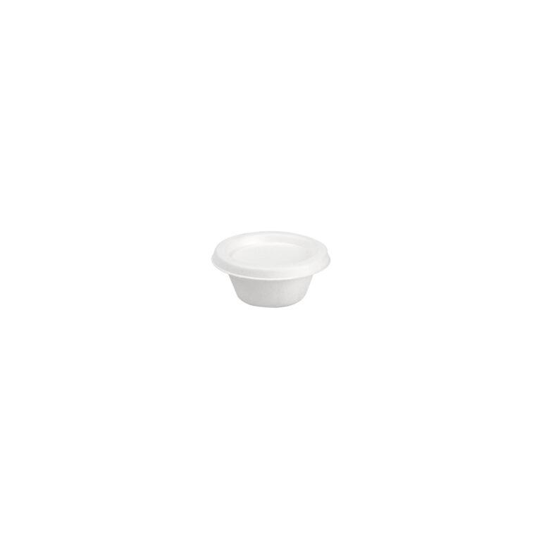 Porta salsa da 60 ml in polpa con coperchio 250 pz