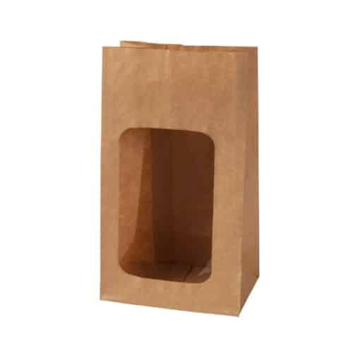 Sacchetto con finestra in PLA 9.5 x 5.5 x 18 cm 500 pz