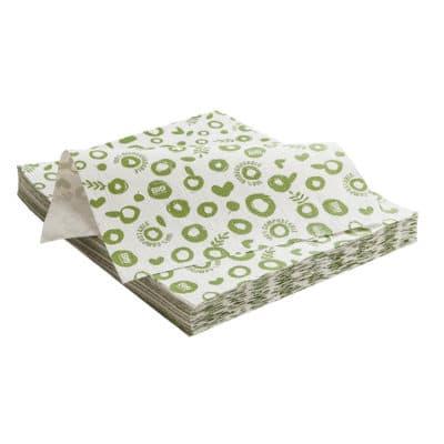 Tovaglietta in carta e PLA verde 33x40 cm verde 250 pz