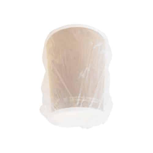 Bicchiere in cartoncino avana imbustato 270 ml 500 pz