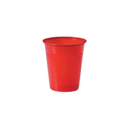 Bicchieri compostabili rossi 200 ml 100 pz