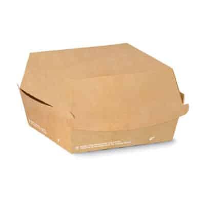 Porta burger in cartoncino avana 12x12x11 cm 400 pz