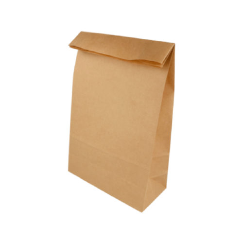 Sacchetti in carta biodegradabili per alimenti 20+9x34,5 cm 500 pz