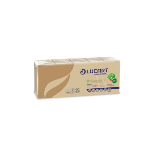 Fazzoletti 4 veli carta riciclata avana 10 pz