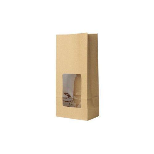 sacchetto con finestra compostabile