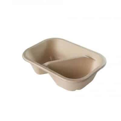 vaschetta in polpa a 2 scomparti